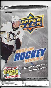 2007-08 UPPER DECK Series 2 - RETAIL PACK -chance JONATHAN TOEWS