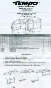 structure d'abri tempo 5x8