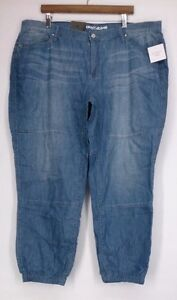 nwt DKNY Jeans 16W Five Pocket Denim Relaxed Jogger Style