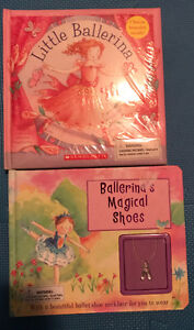 2  Ballerina books New. Includes bracelet and necklace