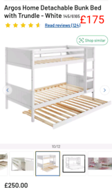 Detachable bunk bed with trundle only £175. RBW Clearance Outlet Leice