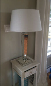 Glass mirrored lamp with shade (moving sale)