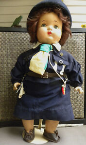 1940's RELIABLE COMPOSITION GIRL GUIDE DOLL ST JEROME QUEBEC West Island Greater Montréal image 3