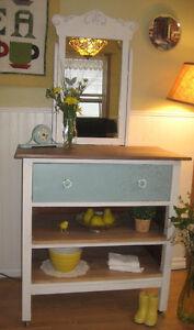 Repurposed Antique Dresser!~Chalk Painted w/Raised Stencil!~