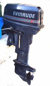 30 hp Evenrude outboard 2 stroke long shaft electric start