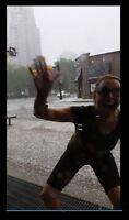 July 4 2015: photobombing my hail footage? lol