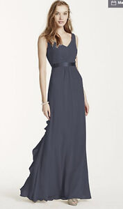 Long Grey (pewter) Bridesmaids dress