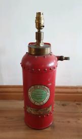 **£125** Vintage Fire Extinguisher Lamp
