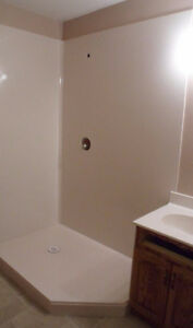 Solid Surface Shower Walls & Fiberglass Shower Bases