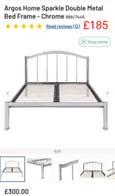 Sparkle Double Bed Frame Chrome only £185. RBW Clearance Outlet Leices