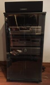 JVC Entertainment System and Cabinet