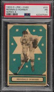 RED HORNER .... 1933-34 OPC ROOKIE .... GRADED .... PSA Poor 1