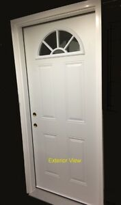 "Entry Door (36"" x 80"") with Full Frame w/ ½ Rnd. D/L"