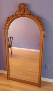 Antique Stylish Mirror - Wooden frame with plaster a find