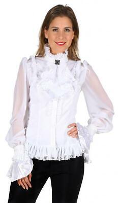 Steampunk Barock Rokoko Pirat Piraten Bluse Kostüm Kleid Gothic Piratin Hemd Hut