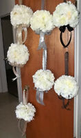 7 Floral Balls - Wedding, Anniversary or Party - $60