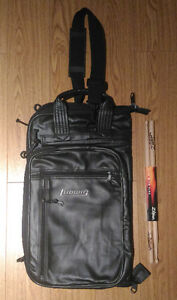 Large Ludwig Drumstick Bag + pair of Zildjian 5A drum sticks