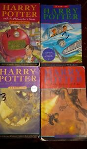 HARRY POTTER BOOKS 1 TO 4, AND BOX   SET OF 3