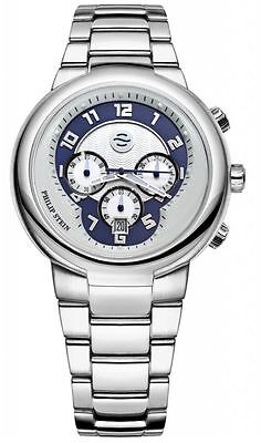 New Philip Stein Active 45Mm Chronograph Mens Watch 32 An Ss