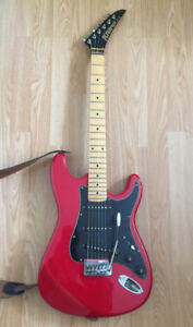 Kramer XLII Strat - Red Hot Chili Pepper - Plays Awesome
