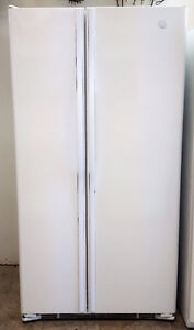 GE 23 Cubic Foot Counter Depth Side by Side Refrigerator Freezer