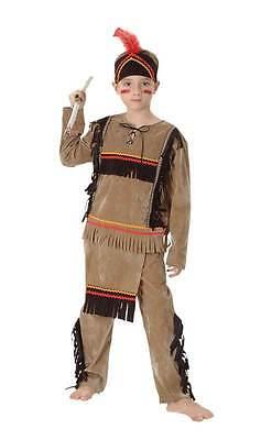 Indische Kostüme Jungen (INDISCHEN JUNGEN,GROßEN CA. IM ALTER VON 9-12,SQUAW,CHIEF,KOSTÜM,BUCH WOCHE #DE)