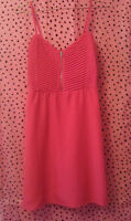 Simons Twik Cherry Red Summer Halter Zip Up Dress NWOT Medium