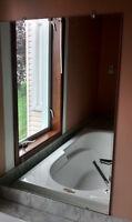 Miroir - Porte-serviette & Poignée de bain