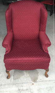 Red Highback Armchair - $70 OBO