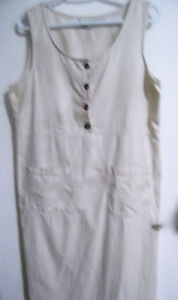 FABULOUS LIGHTWEIGHT OFF-WHITE COTTON SUNDRESS/JUMPER