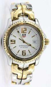 Tag Heuer 200 Meter Professional WT1150 Steel & 18K Gold Mens Wh