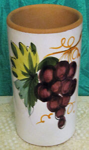 Hand painted Terra Cotta Wine Chiller F/S