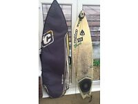 Webber Xcel 6ft Surfboard, leash and Board Bag