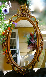 "Vintage ""Hollywood Regency Wall Mirror....(Reduced)"