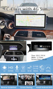 "*ANDROID* Mercedes-Benz C-Class 10.25"" GPS Camera System"
