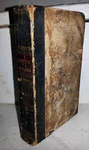 c1825 SIGNED YOUTH'S INSTRUCTER ANTIQUE SCHOOL BOOK