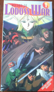 ANIME - Record of Lodoss War - 5 VHS all together for $5.00