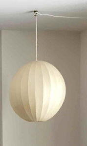 Vintage hanging globe lamp