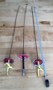 3 Fencing Foils, Epees for Sale
