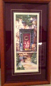 """Signed Laura Berry framed print """"Falling Shadows"""""""
