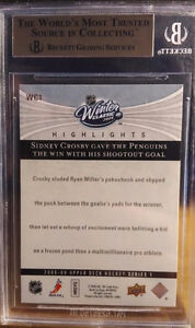 2005-06 ROOKIES OF SIDNEY CROSBY ALL GRADED 9 AND BETTER!!!! Cambridge Kitchener Area image 2