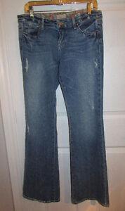 PAIGE Denim Boot Cut Distressed Jeans - Size 29
