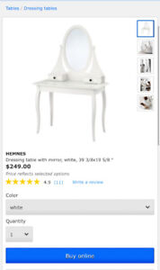 IKEA Hemnes Dressing Table for Sale