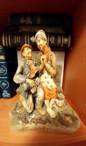 England Celebration 820 Old Couple Bench Hand Painted Figurine
