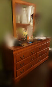 Bedroom dresser with mirror and chest for sale (used)
