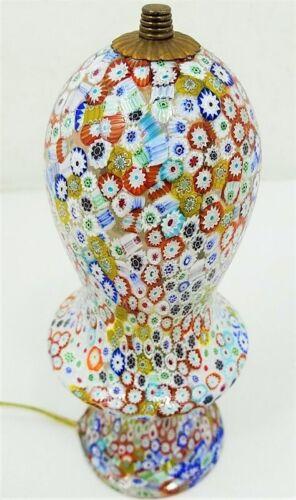 Vintage Fratelli Toso Millefiori Lamp Murano Italian Art Glass