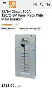 Siemens 32/64 100amp breaker panel with main breaker