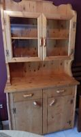 Solid Knotty Pine Hutch