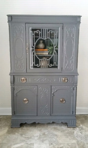 Refinished Vintage China Cabinet