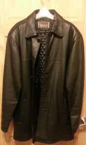 Men's (size 42) Winter Leather Car Coat.